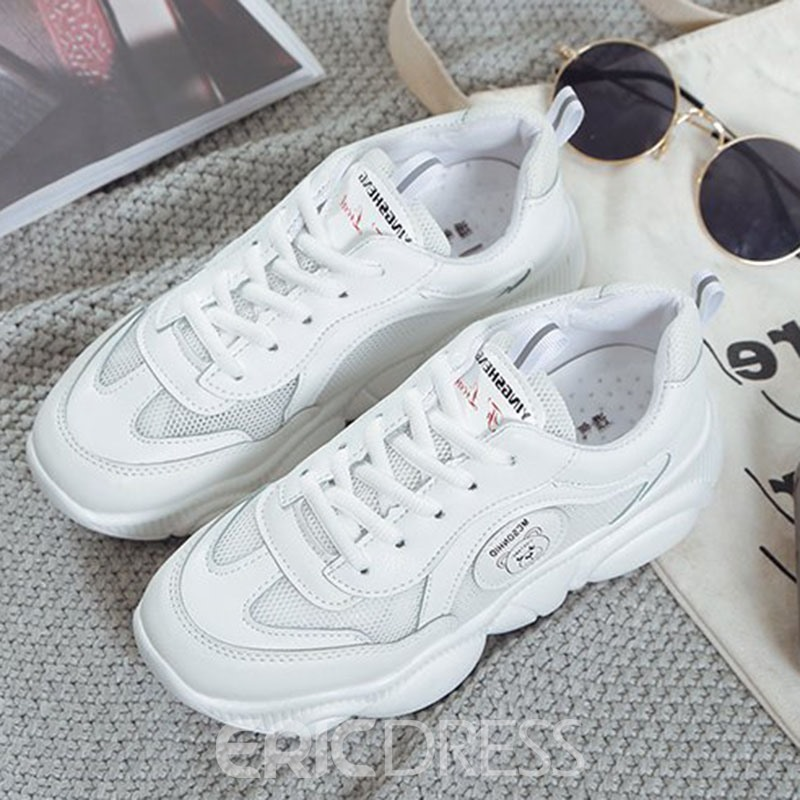 Ericdress Lace-Up Low-Cut Upper Lace-Up Plain Sneakers