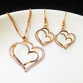 Ericdress Earrings Heart-Shaped European Jewelry Sets