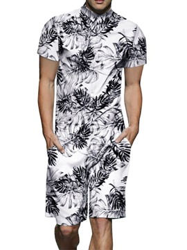 Ericdress Color Block Pocket Casual Mens Summer Outfit
