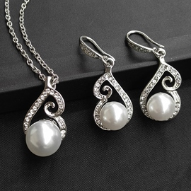 Earrings E-Plating Korean Pearl Jewelry Sets (Wedding)