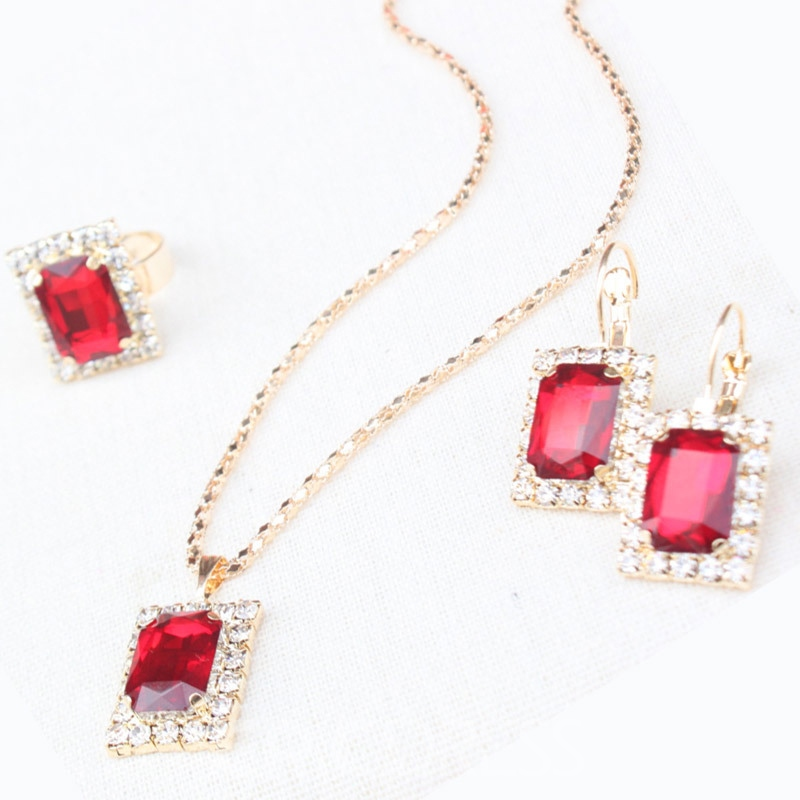 Ericdress Necklace Diamante European Jewelry Sets
