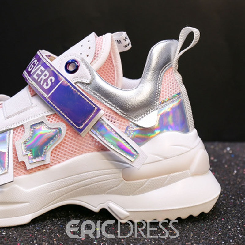 Ericdress Sequin Velcro Round Toe Women's Sneakers
