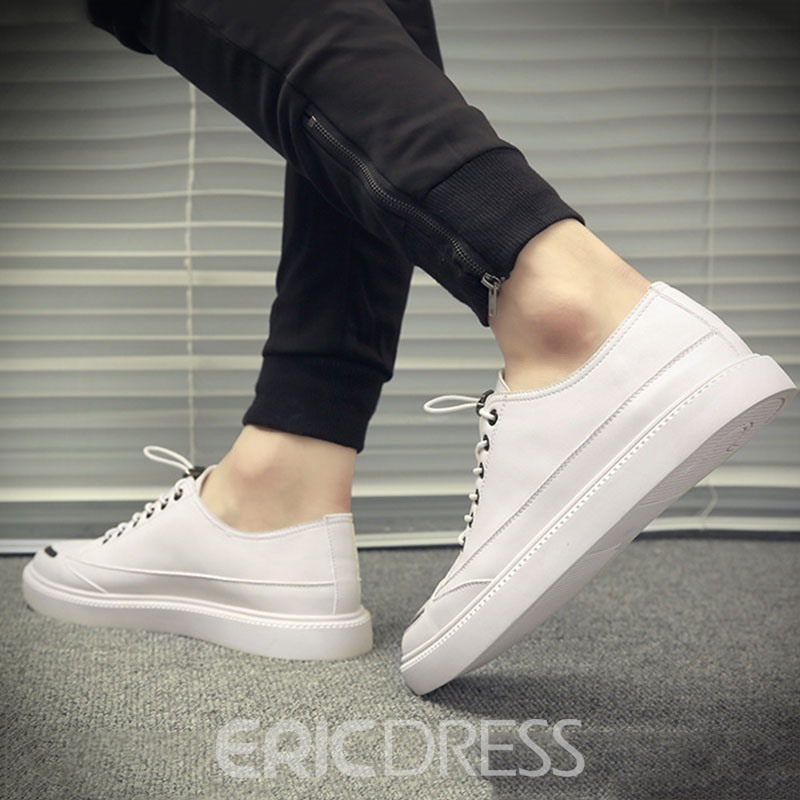 Ericdress PU Color Block Round Toe Men's Casual Skate Shoes