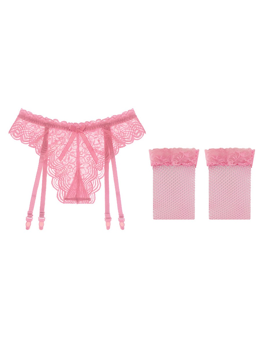 Ericdress Plain Bowknot Thigh-High Stocking Lace Garters