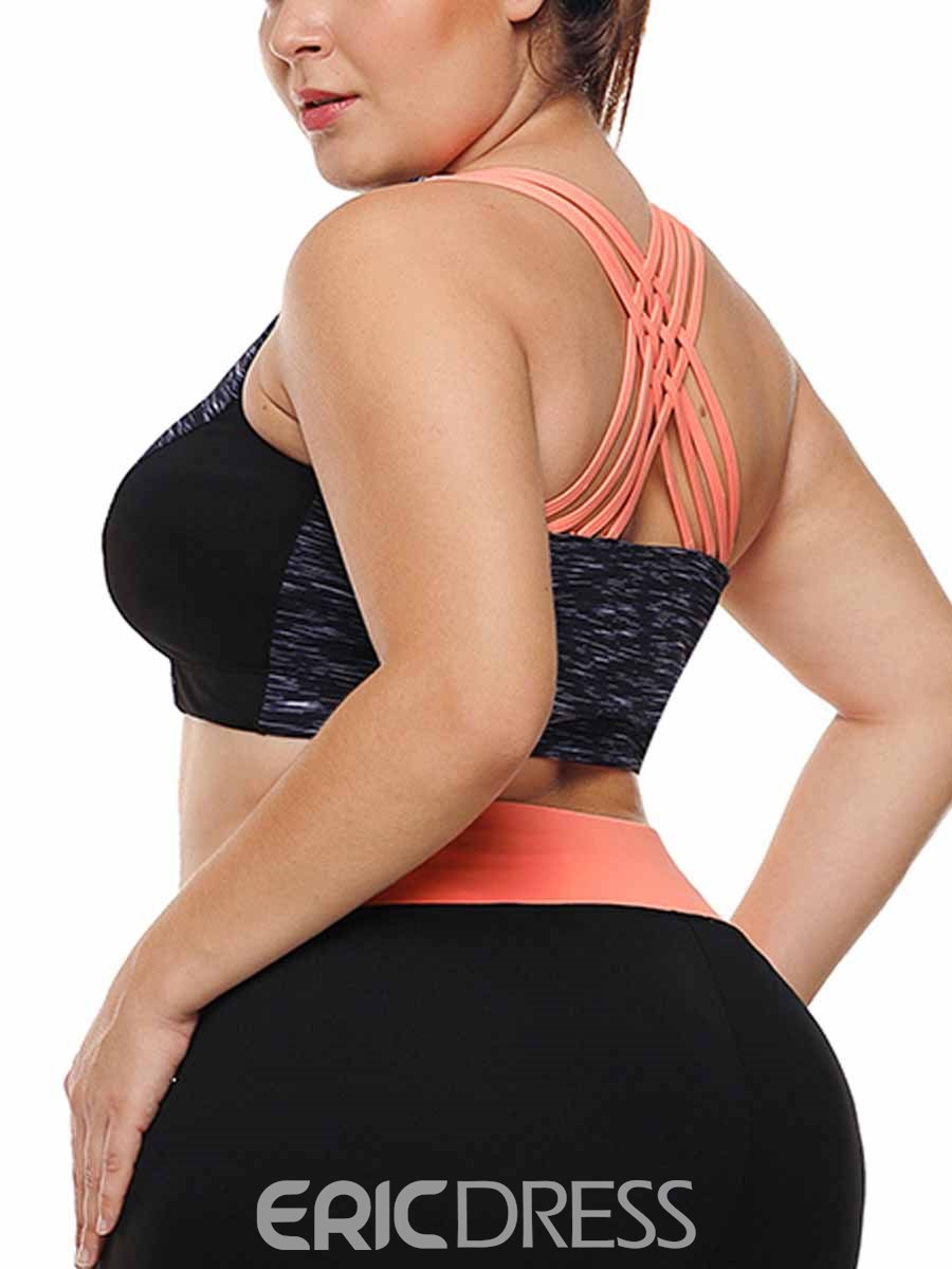 Ericdress Women Plus Size Free Wire Gym Sports Bras