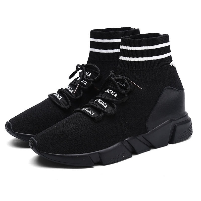 Ericdress Elastic Band Round Toe Lace-Up Color Block Women's Sneakers