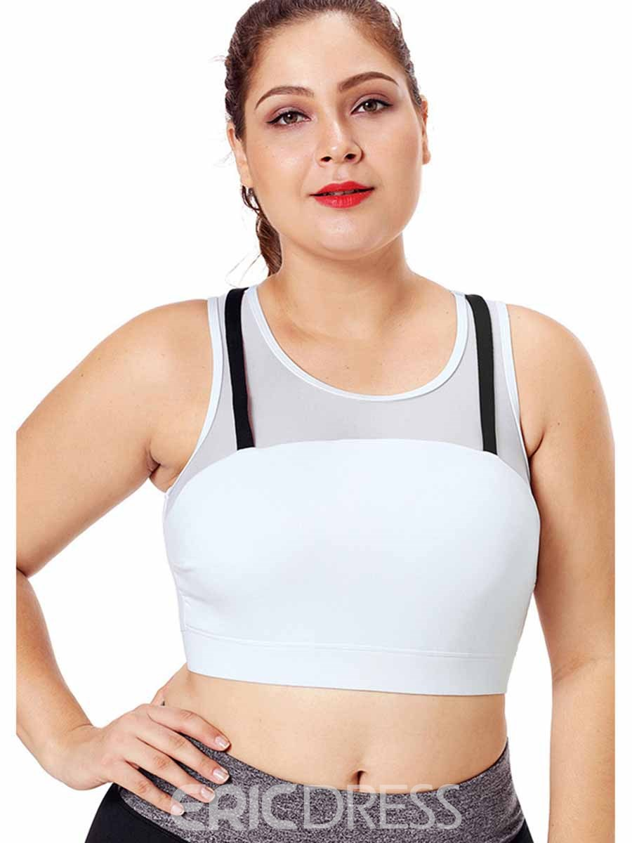 Ericdress Women Plus Size Color Block Sleeveless Yoga Tops