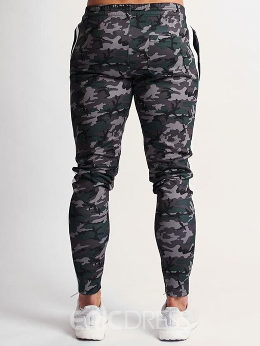 Ericdress Camouflage Pocket Mens Lace-Up Casual Pants