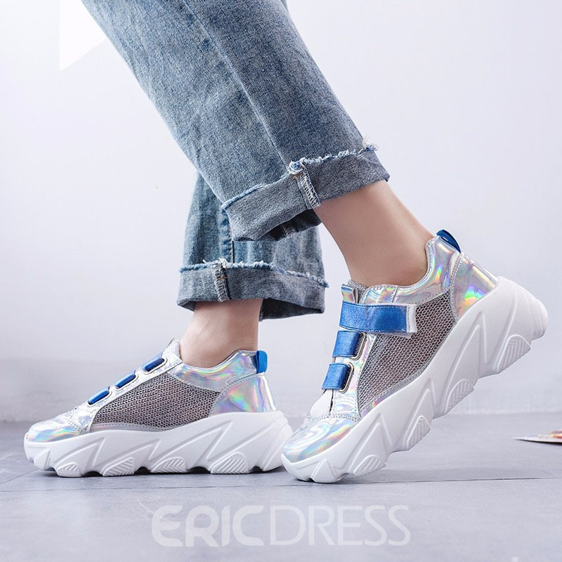 Ericdress PU Round Toe Velcro Women's Casual Sneakers