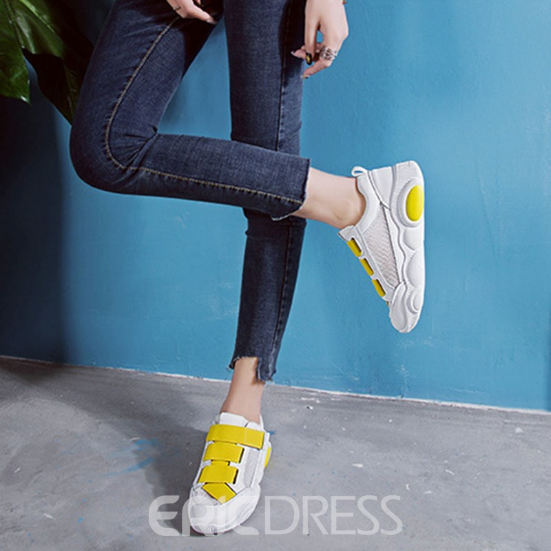 Ericdress Mesh Velcro Round Toe Color Block Women's Sneakers