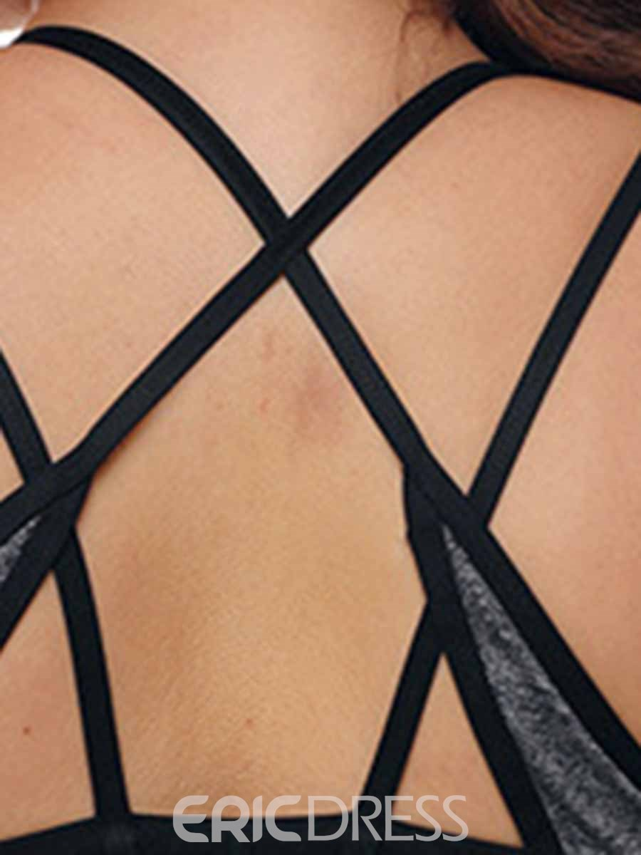Ericdress Plus Size Non-Adjusted Straps Free Wire Full Cup Sports Bras