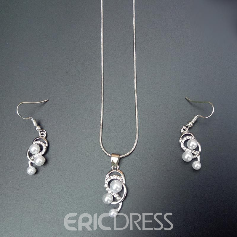 Ericdress Earrings Pearl Inlaid Korean Jewelry Sets