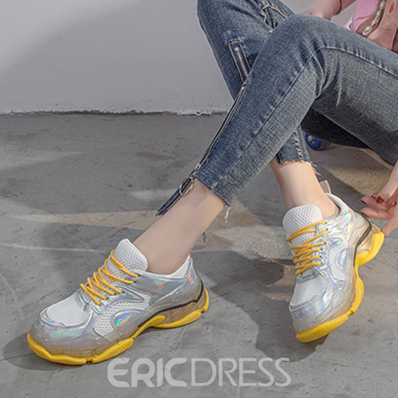 Ericdress Mesh Round Toe Candy Color Women's Sneakers