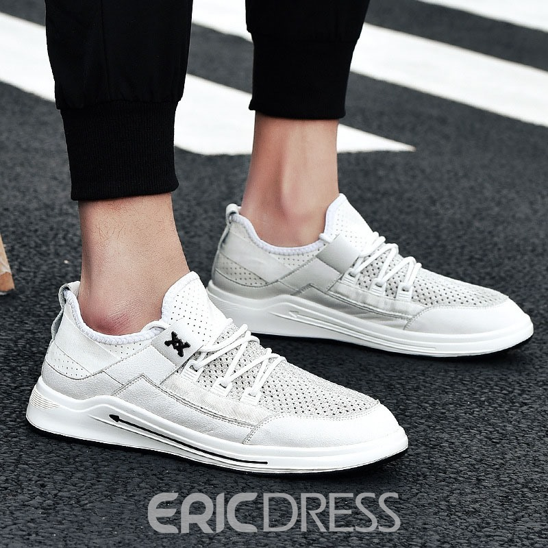 Ericdress Lace-Up Round Toe Men's Outdoor Shoes
