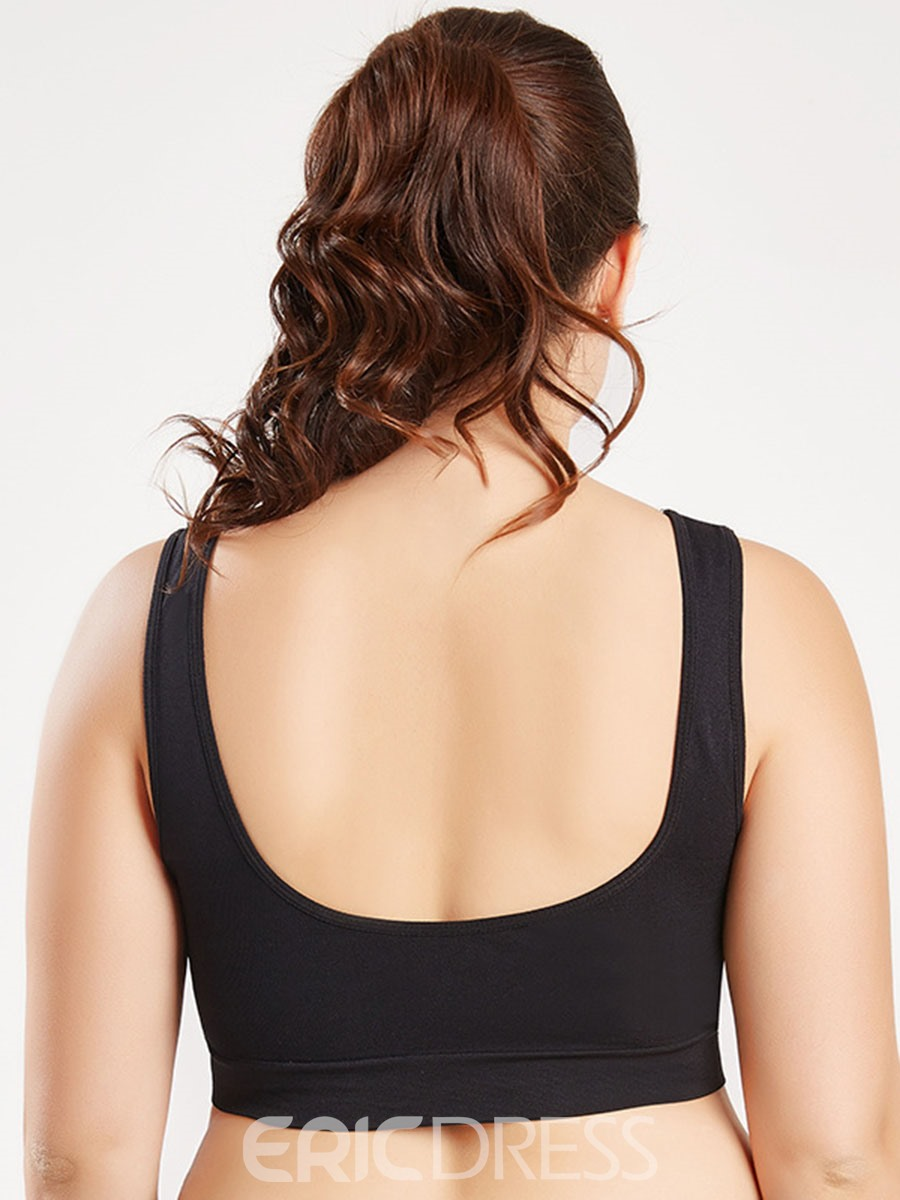 Ericdress Plus Size Women Non-Adjusted Straps Plain Sports Bras