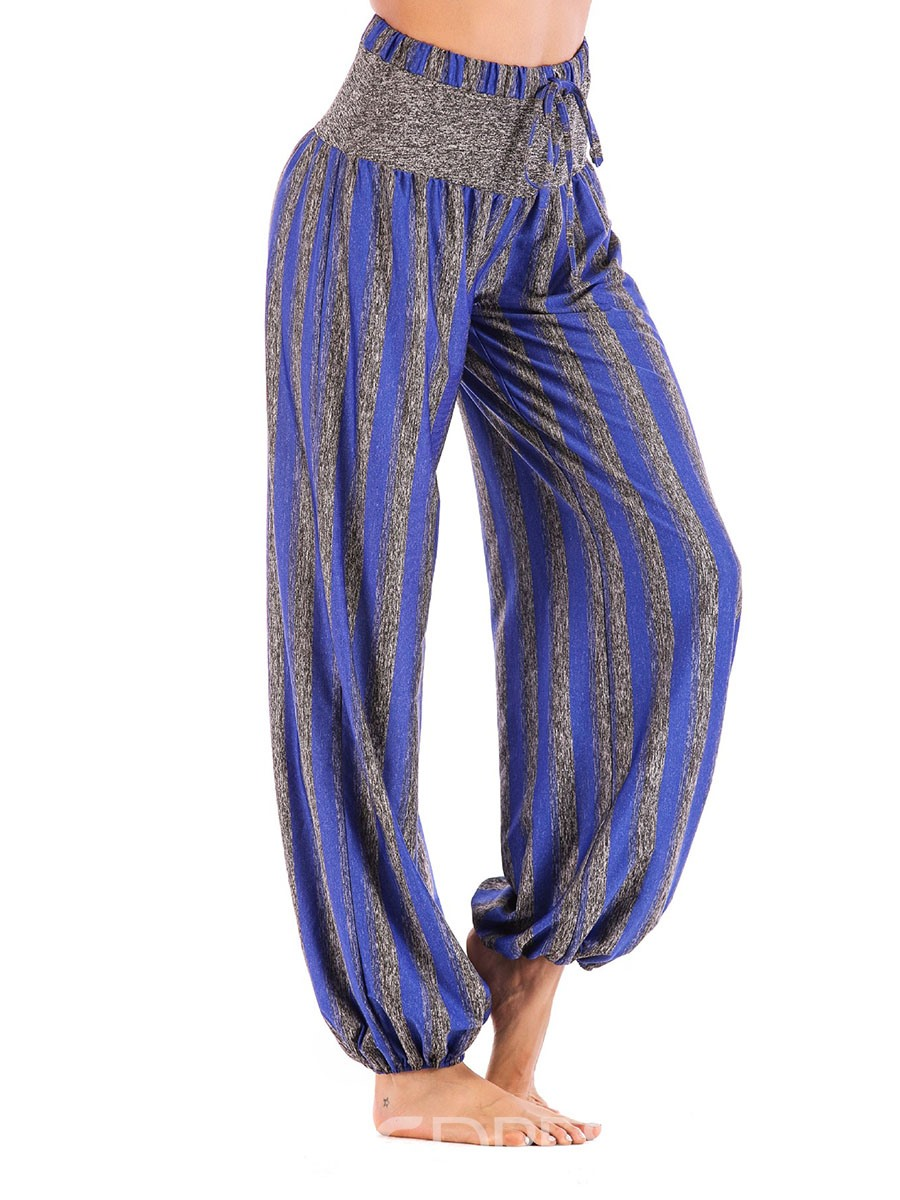 Ericdress Women Plus Size Print Stripe Fall Yoga Pants
