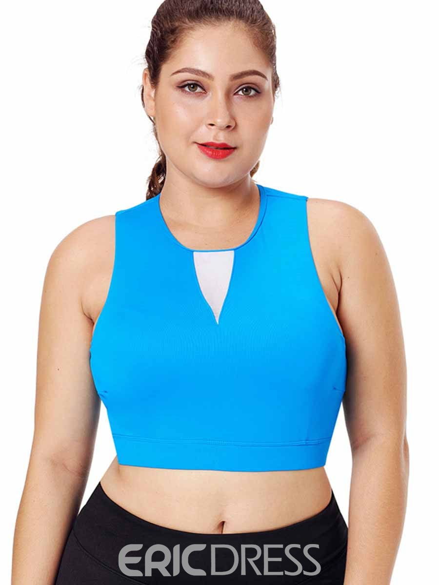 Ericdress Women Plus Size Backless Pullover Sleeveless Sports Tops