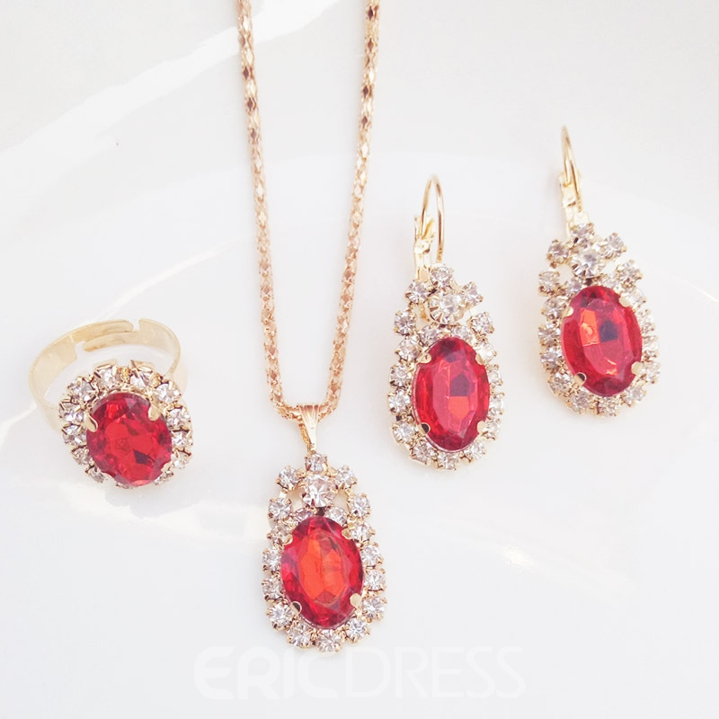 E-Plating European Necklace Jewelry Sets (Wedding)