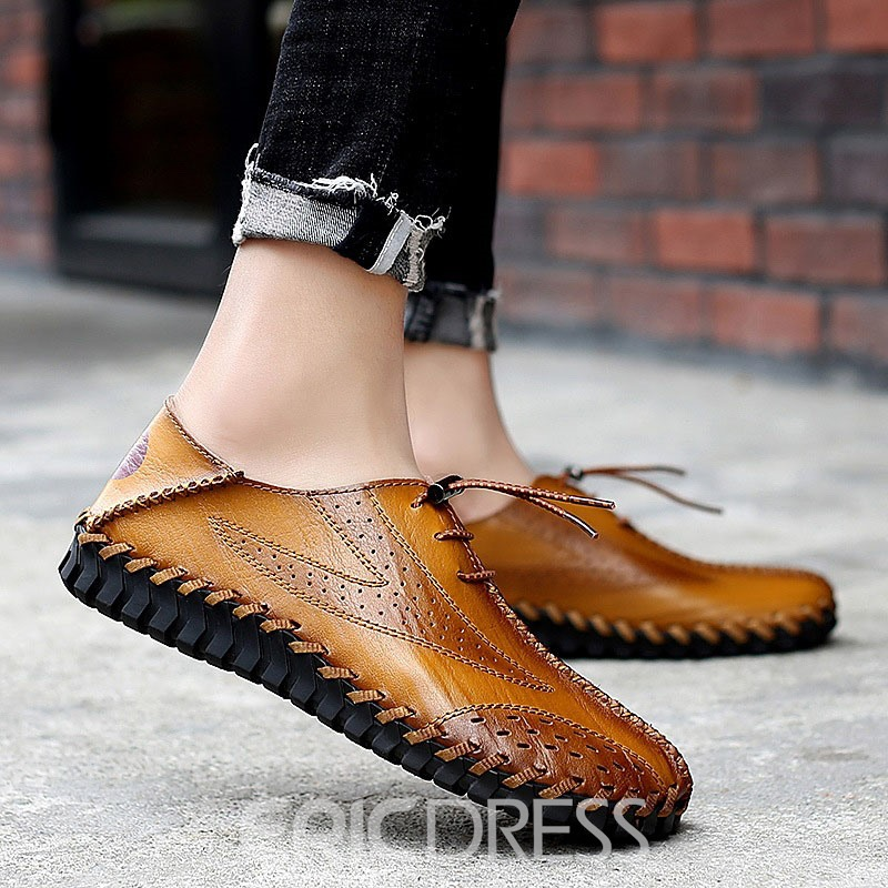 Ericdress Plain Round Toe Low-Cut Upper Men's Casual Shoes