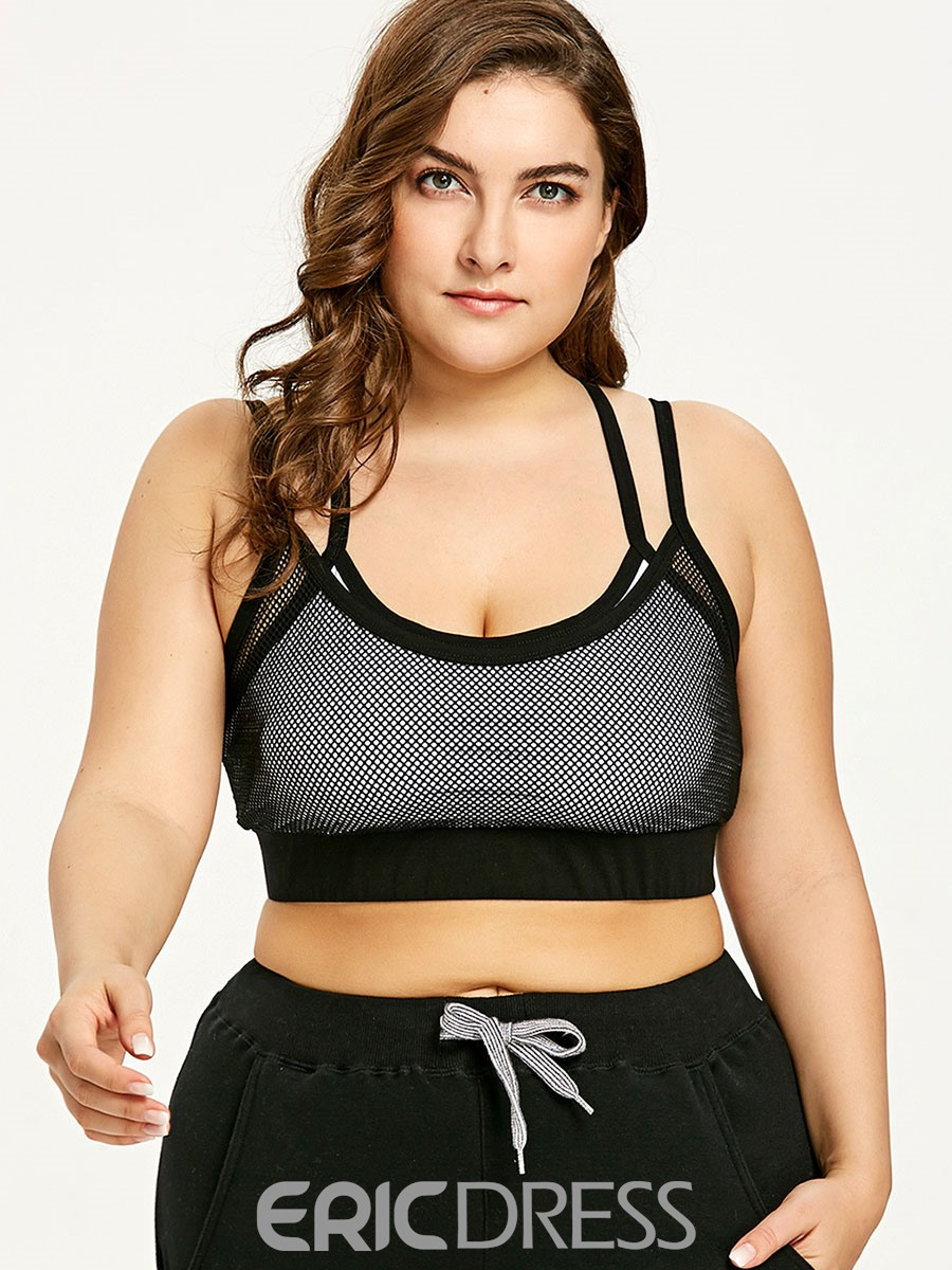 Ericdress Women Plus Size Non-Adjusted Straps Free Wire Sports Bras