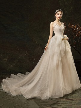Ericdress Floor-Length A-Line Sleeveless Lace Church Wedding Dress 2020