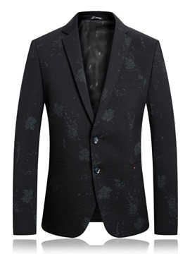 Ericdress Notched Lapel Casual Single-Breasted Mens Blazers