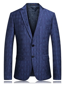 Ericdress Casual Plain Straight Mens Blazers