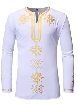 Ericdress African Fashion Dashiki V-Neck Mens Slim Shirt