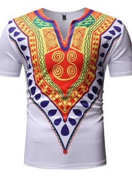 EricdressAfrican Fashion Dashiki Casual Straight Mens Short Sleeve T-shirt