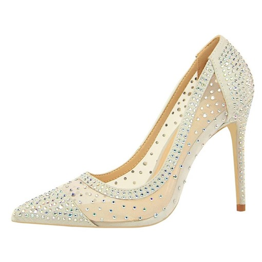 Ericdress Rhinestone Stiletto Heel Pointed Toe Sweet Women's Prom Shoes