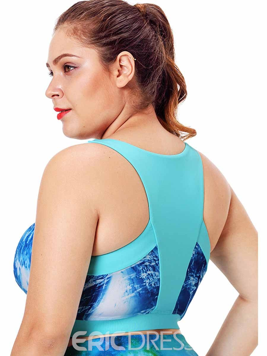 Ericdress Women Plus Size Print Free Wire Sports Bras
