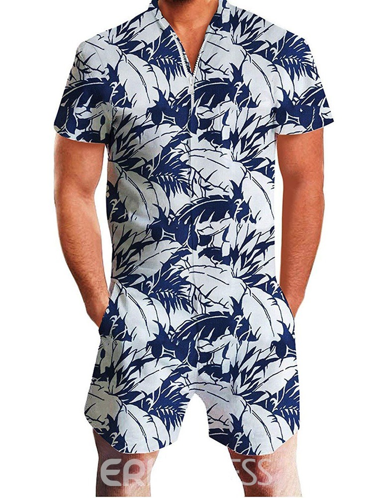 Ericdress Color Block Casual Mens Summer Outfit