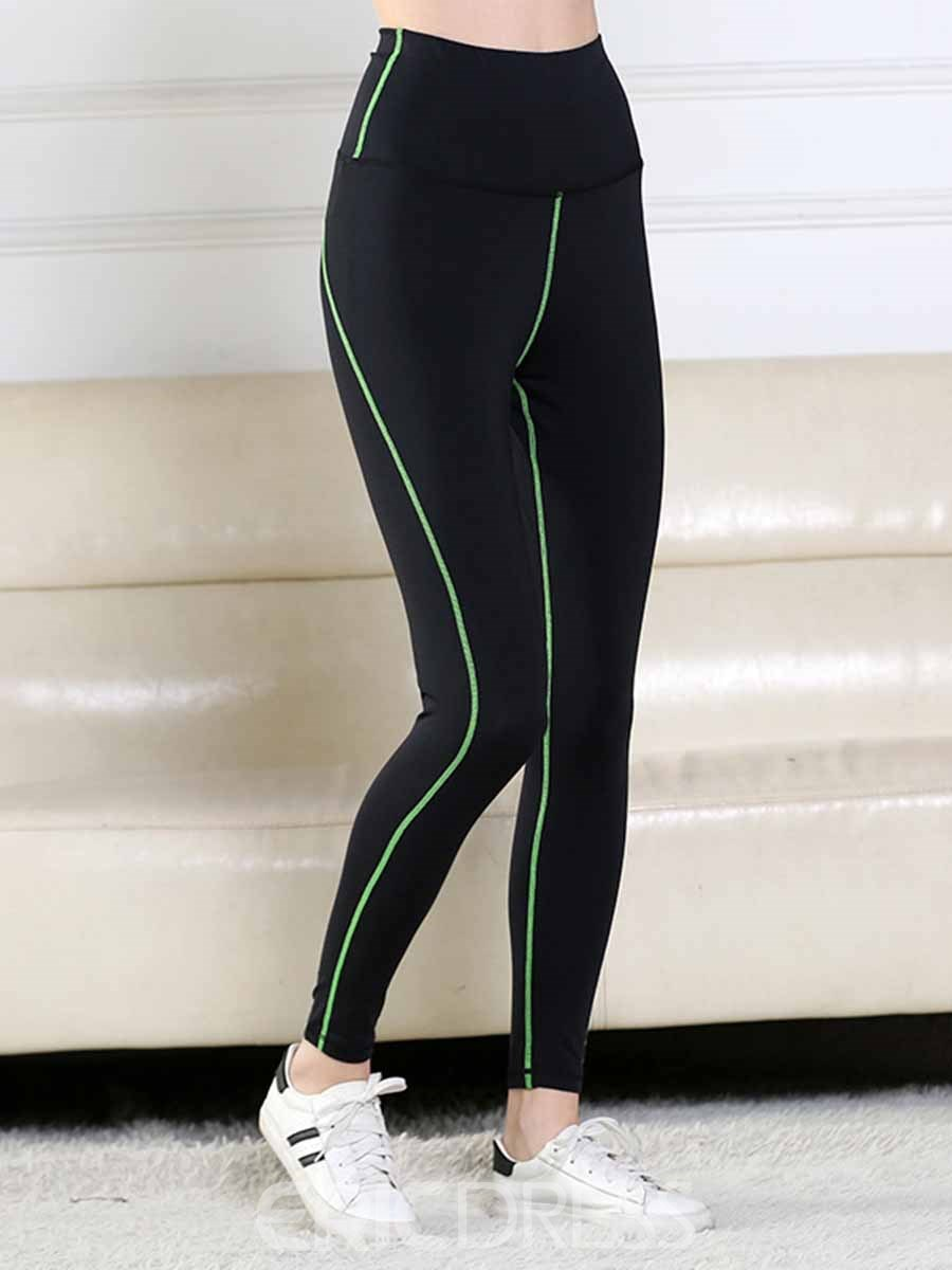 Ericdress Women Plus Size Stripe Yoga Gym Sports Leggings
