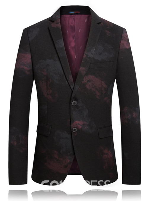 Ericdress Print Straight Casual Mens Blazers