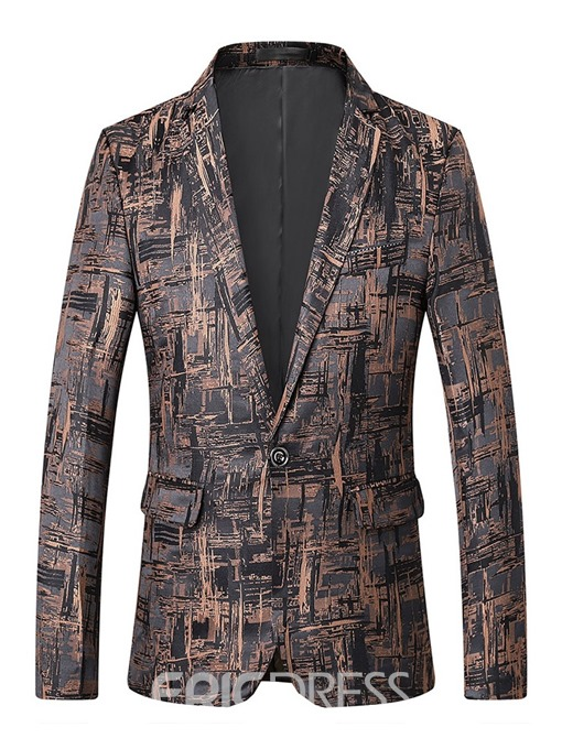Ericdress Notched Lapel Fashion Single-Breasted Mens Blazer