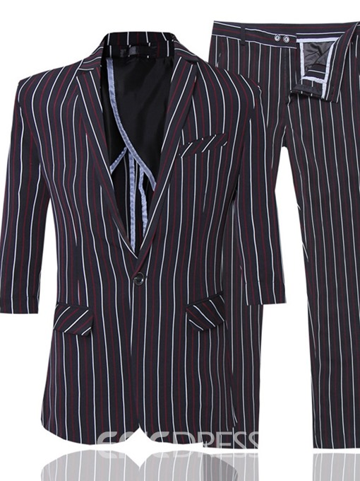 Ericdress Blazer Fashion Button Mens Dress Suit
