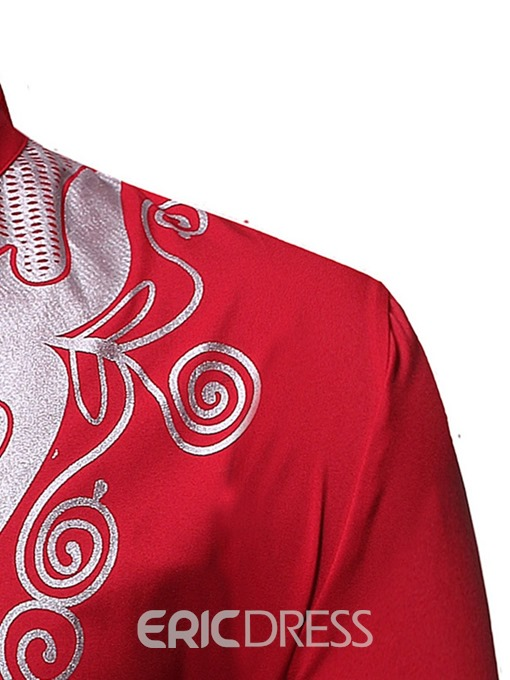Ericdress African Fashion Dashiki Stand Collar Mens Shirt