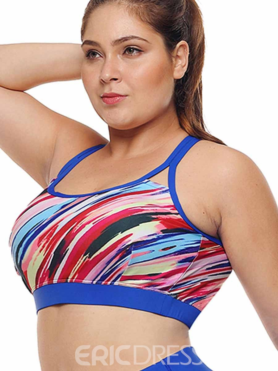 Ericdress Women Plus Size Print Non-Adjusted Straps Sports Bras