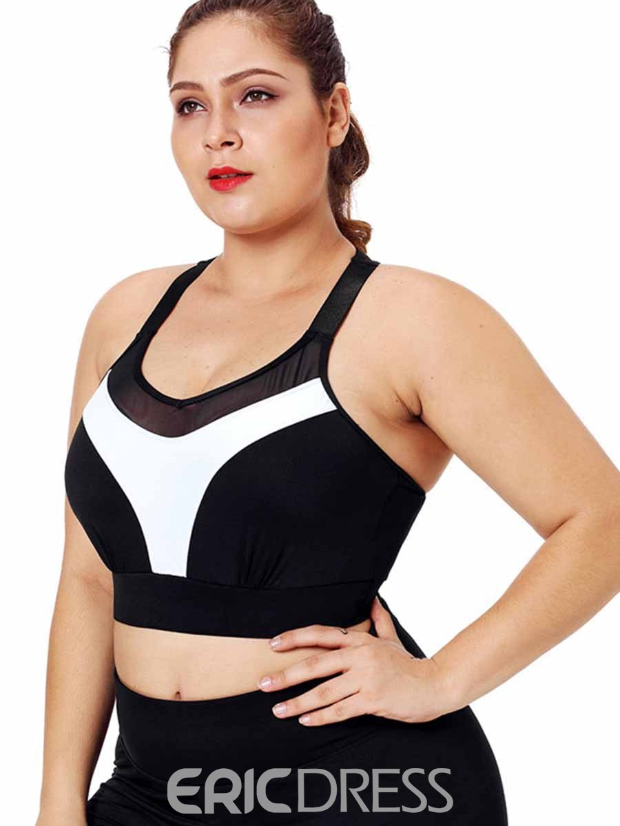 Ericdress Women Plus Size Print Push Up Free Wire Sports Bras