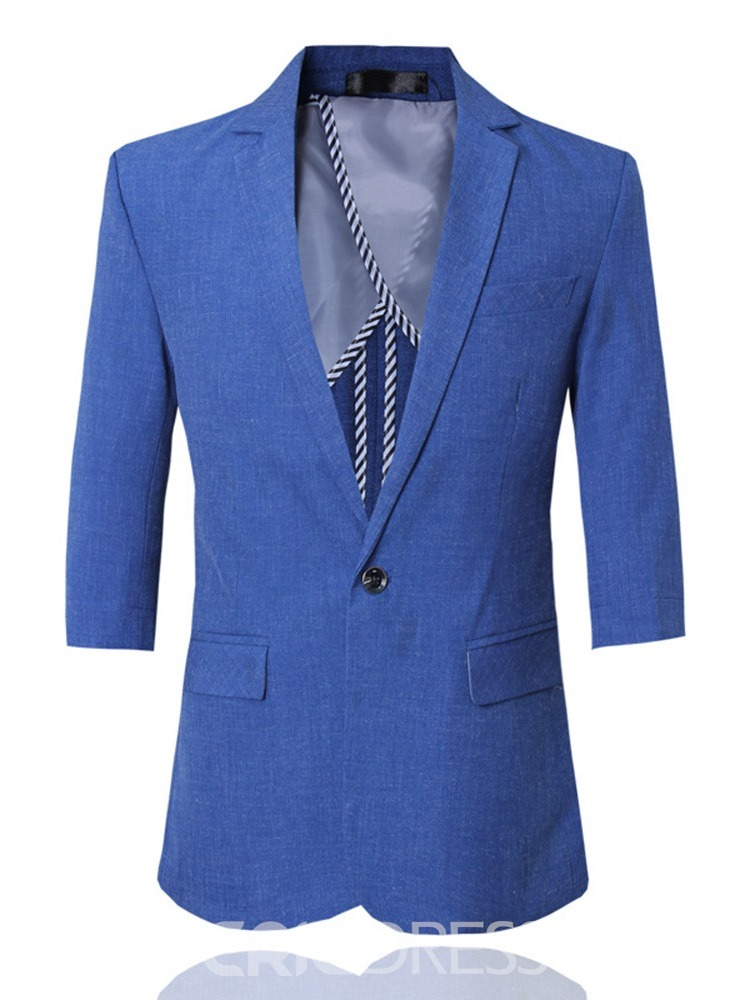 Ericdress Blazer Button Plain Mens Dress Suit