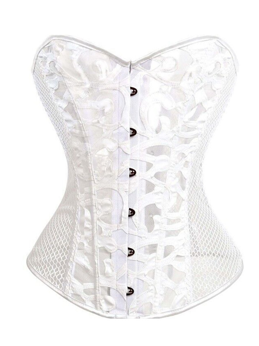 Ericdress Women Breathable Hollow Mesh Waist Trainer Cincher Corset