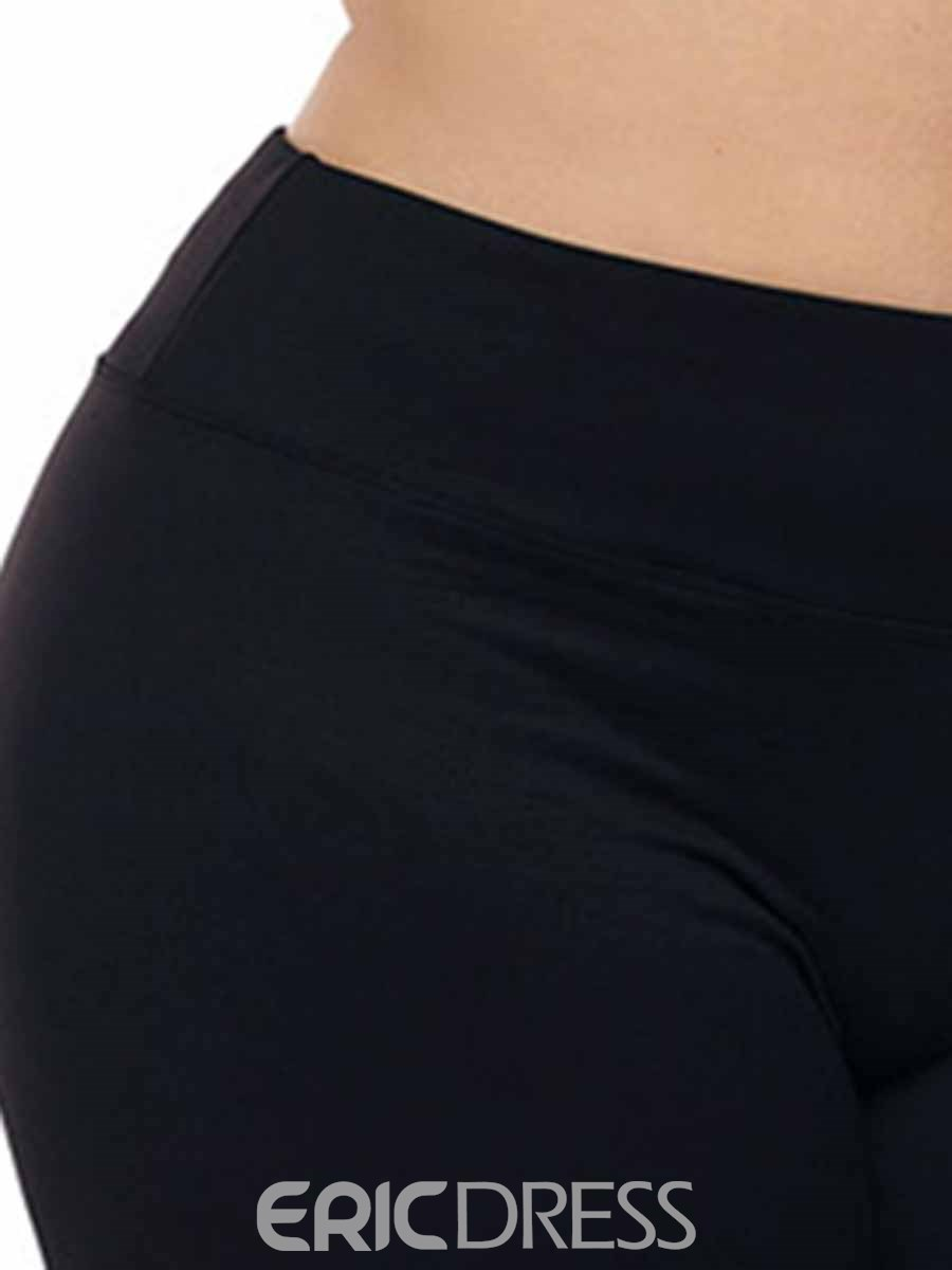 Ericdress Women Plus Size Solid Yoga Pants Summer Shorts