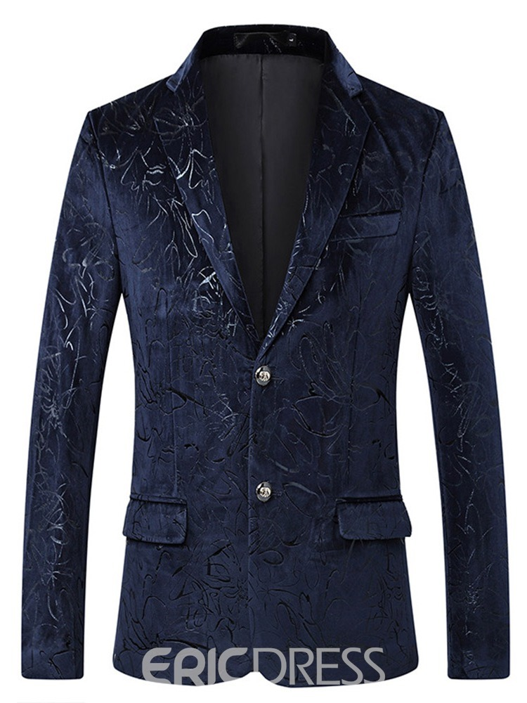 Ericdress Casual Floral Straight Mens Blazer