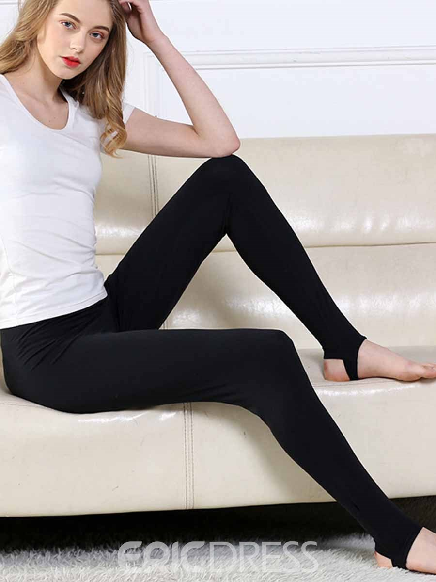 Ericdress Women Plus Size Solid Yoga Pants Tights
