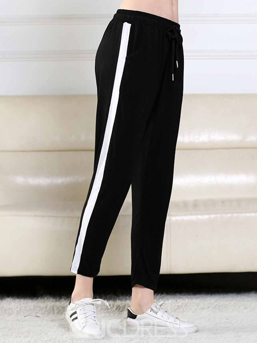 Ericdress Women Plus Size Color Block Running Gym Sports Pants