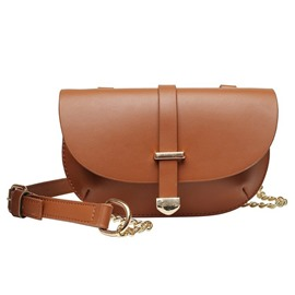 Ericdress PU Plain Half Moon Saddle Crossbody Bag