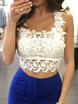 Ericdress Summer Lace Polyester Short Tank Top
