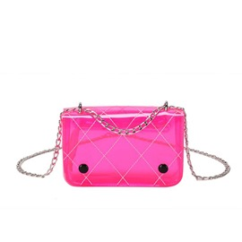 Ericdress Chain Plaid PVC Rectangle Crossbody Bag