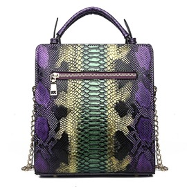 Ericdress Serpentine PU Chain Rectangle Tote Bag