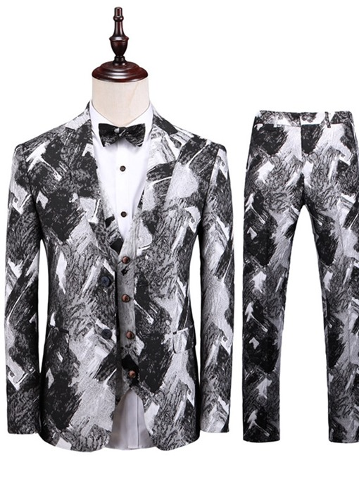 Ericdress Pants Fashion Print Mens Dress Suit